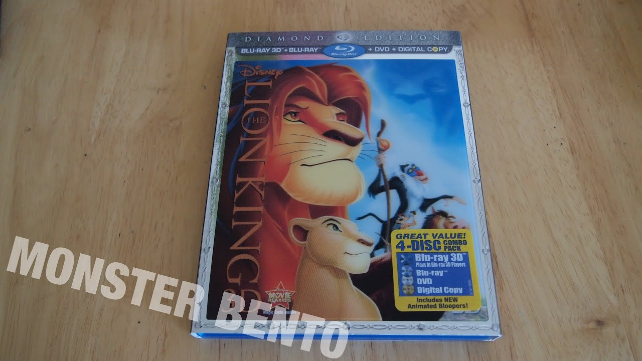 Disney The Lion King Diamond Edition Blu Ray 3d Dvd Digital Copy Unboxing Review Youtube