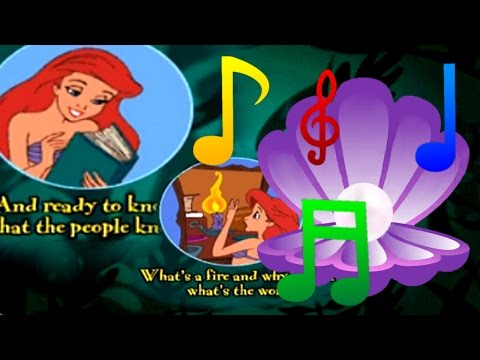 ♫♪ All Sing Along Songs + Karaoke Versions ♫♪ - The Little Mermaid Animated Story Book