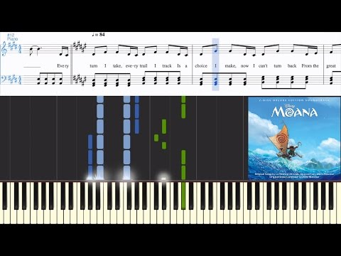 [Moana] Auli'i Cravalho - How Far I'll Go (Reprise) (Synthesia Piano Tutorial w/Lyrics)