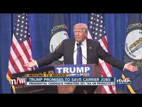 Trump promises to save Carrier jobs