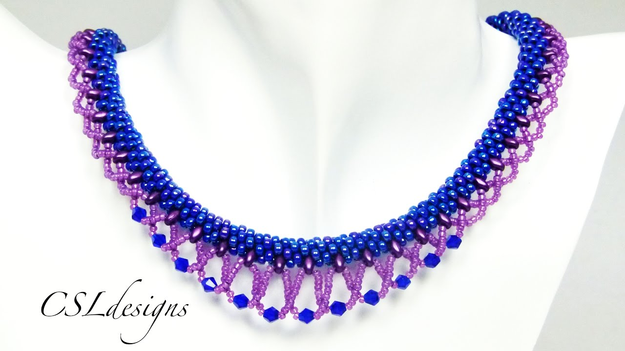 LACE Beaded Kumihimo Necklace Tutorial Tutorial Only