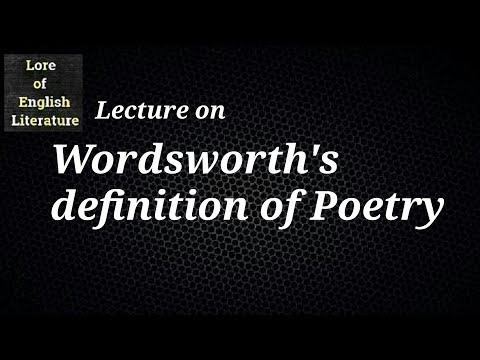 definition of poetry by william wordsworth