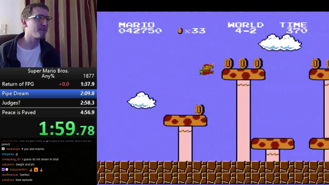 Super Mario Bros. Speedrun - 4:56.69 - Super Mario Bros. Speedrun - 4:56.69