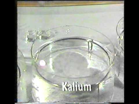 Các kim loại kiềm tác dụng với nước