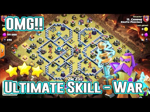 OMG!! ULTIMATE SKILL ATTACK IN CLAN WAR - ANY GROUNDS SMASH ( Clash Of Clans )
