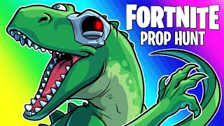 Fortnite Prop Hunt Funny Moments - Riding Dinosaurs and Trash! (AAAAAAAAAAA)