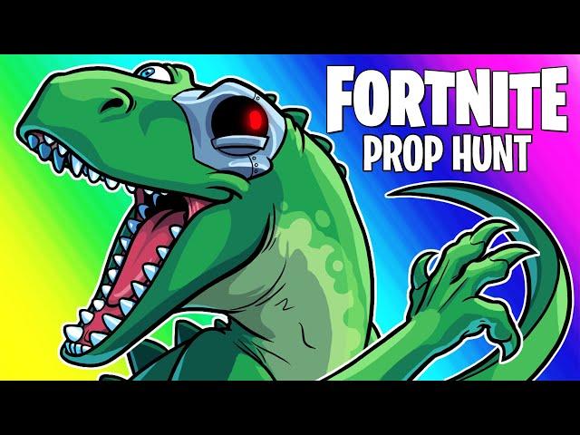 Fortnite Prop Hunt Funny Moments - Riding Dinosaurs and Trash! (AAAAAAAAAAA)
