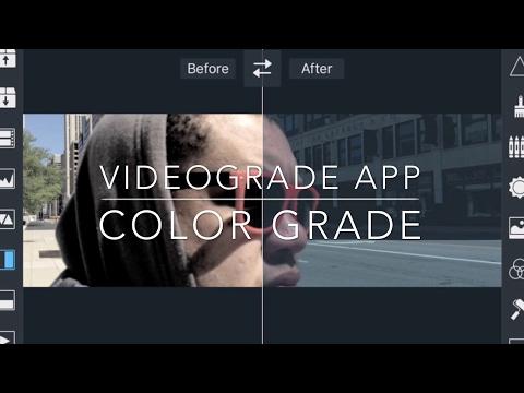 VideoGrade App Color Grading tutorial in 5 Easy steps