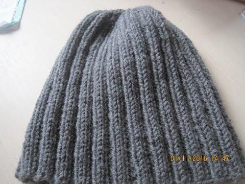 Вяжем мужскую шапку мужьям и сыновьям (Knit mens hat husbands and sons)