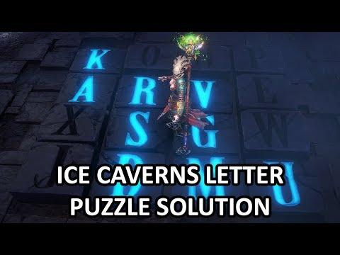 Shadows: Awakening - Ice Caverns Letter Puzzle Solution