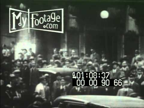 Stock Footage -  Rare Footage: Wall Street the Day of the Market Crash 10/29/29