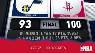 Utah Jazz 93 - 100 Houston Rockets