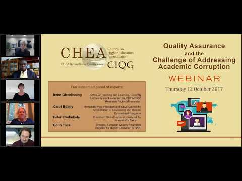 Quality Assurance and the Challenge of Addressing Academic Corruption