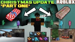 ROBLOX | ASSASSIN: THE CHRISTMAS UPDATE *PART ONE* IS HERE! (NEW CASES + RECIPES + MAPS + LOBBY)
