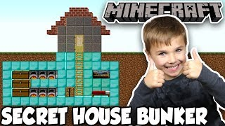 BUILDING A PRO SECRET HOUSE BASE in MINECRAFT!
