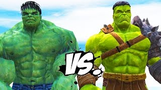 THE INCREDIBLE HULK VS PLANET HULK - EPIC BATTLE
