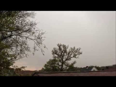 HAIL STORM, SEVERE THUNDERSTORM, LIGHTNING STRIKES AND WIND SWEPT RAIN IN UNIONTOWN, PA. - 05-07-14.