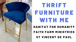 Thrift Furniture with Me: Habitat for Humanity, Faith Farm Ministries, St. Vincent dePaul