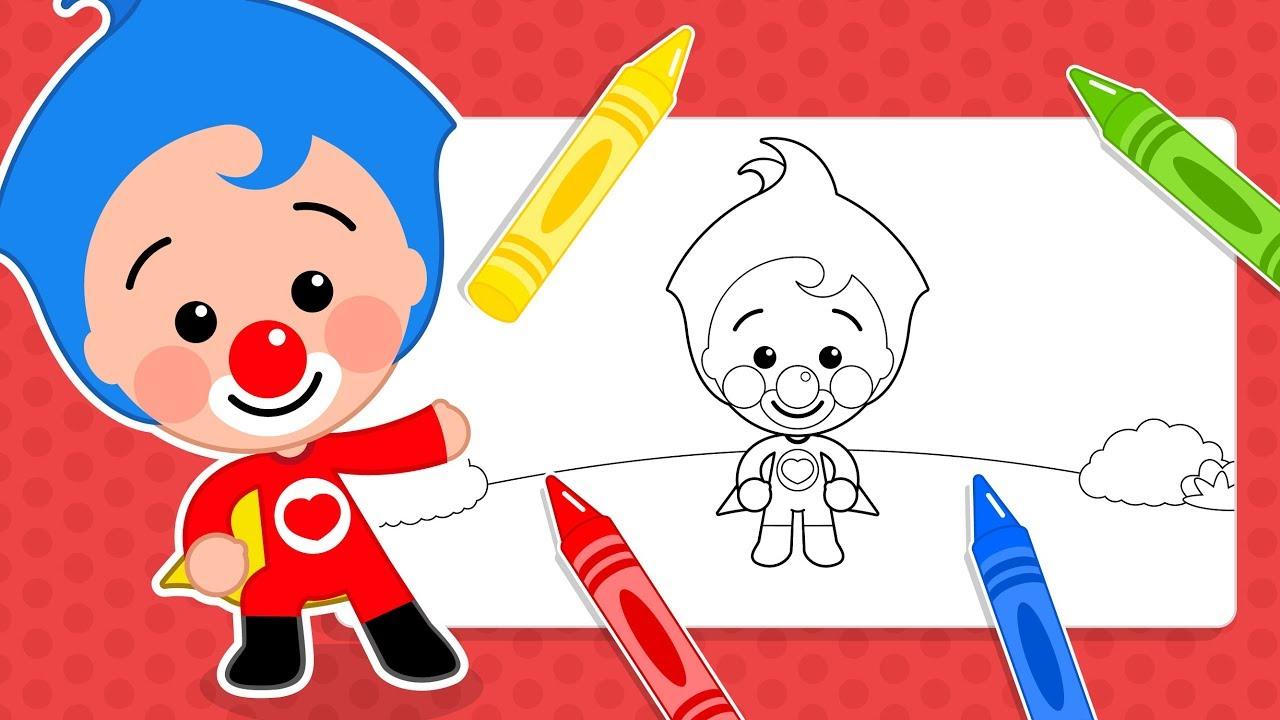 Dibujos Para Aprender A Colorear: Dibujos Para Colorear De Plim Plim #3