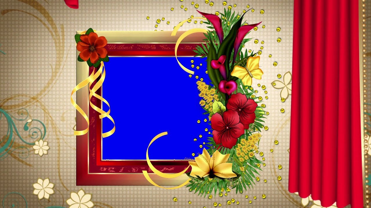 Hd Free Background Animated Beautiful Flower Photo Frame Video Dmx