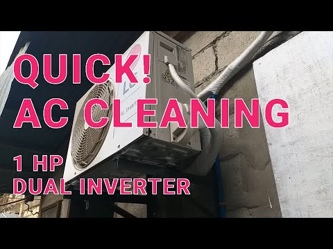 QUICK! Cleaning 1HP LG Dual Inverter Aircon -  Outdoor Unit