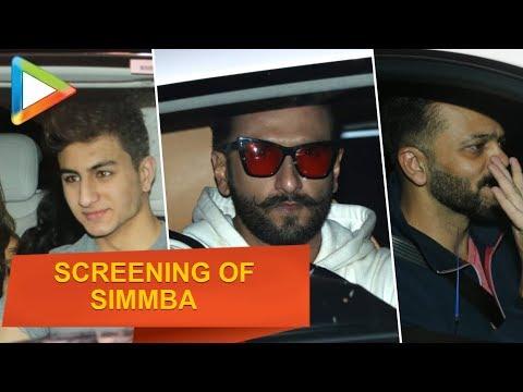 Simmba Special Screening | Sara Ali Khan, Ranveer Singh, Rohit Shetty