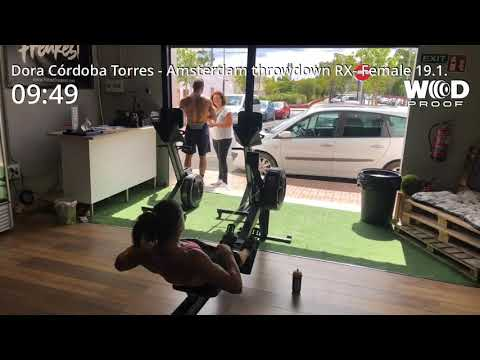 The Amsterdam Throwdown. Wod 19.1. Dora Córdoba Torres. RX-Female