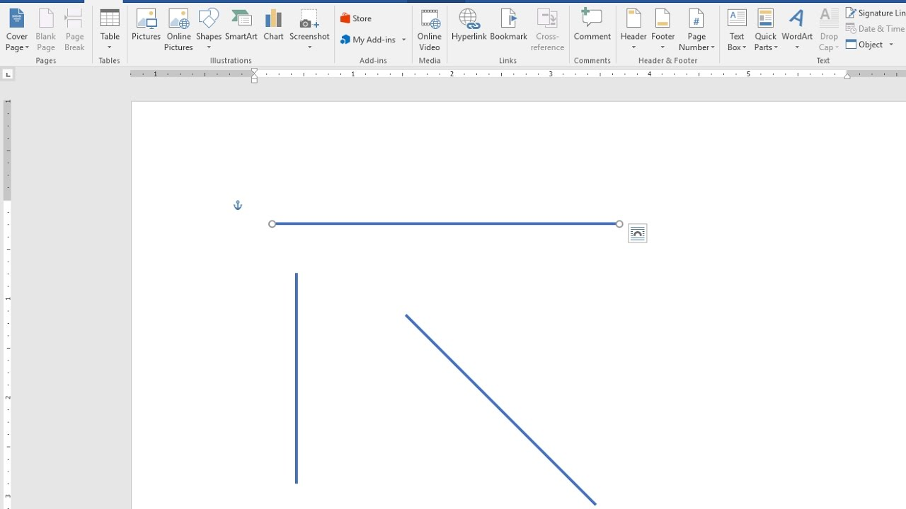 Drawing Lines In Microsoft Word : How to draw straight lines vertical horizontal in ms