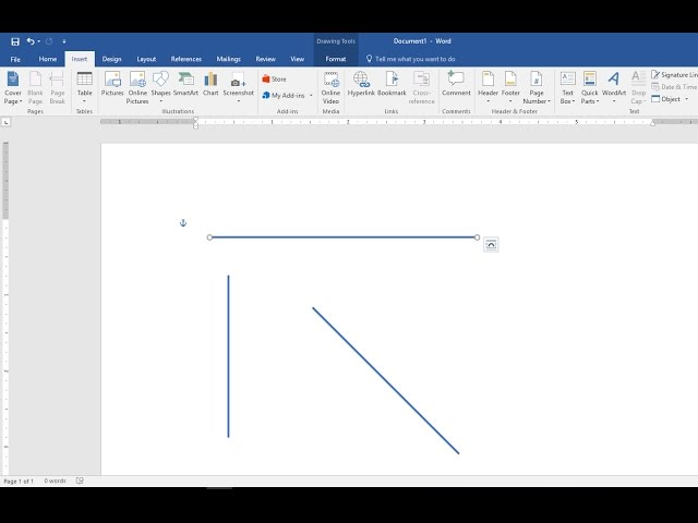 How to Draw Straight Lines Vertical  Horizontal in MS Word (2003