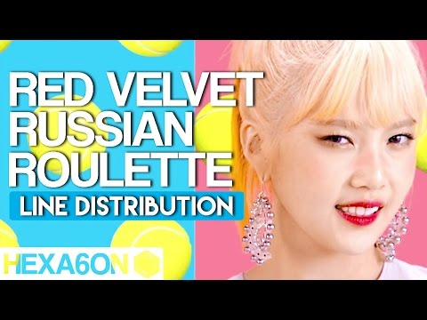 Red Velvet - Russian Roulette Line Distribution (Color Coded