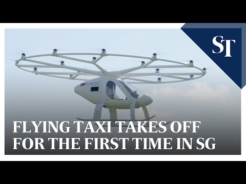 Flying taxi takes off for the first time in Singapore | The Straits Times