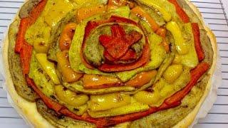 Homemade Rainbow Veggie Pizza
