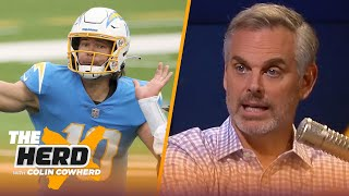 Justin Herbert on starting for Chargers, winning 2020 Rose Bowl MVP at Oregon & Tom Brady | THE HERD