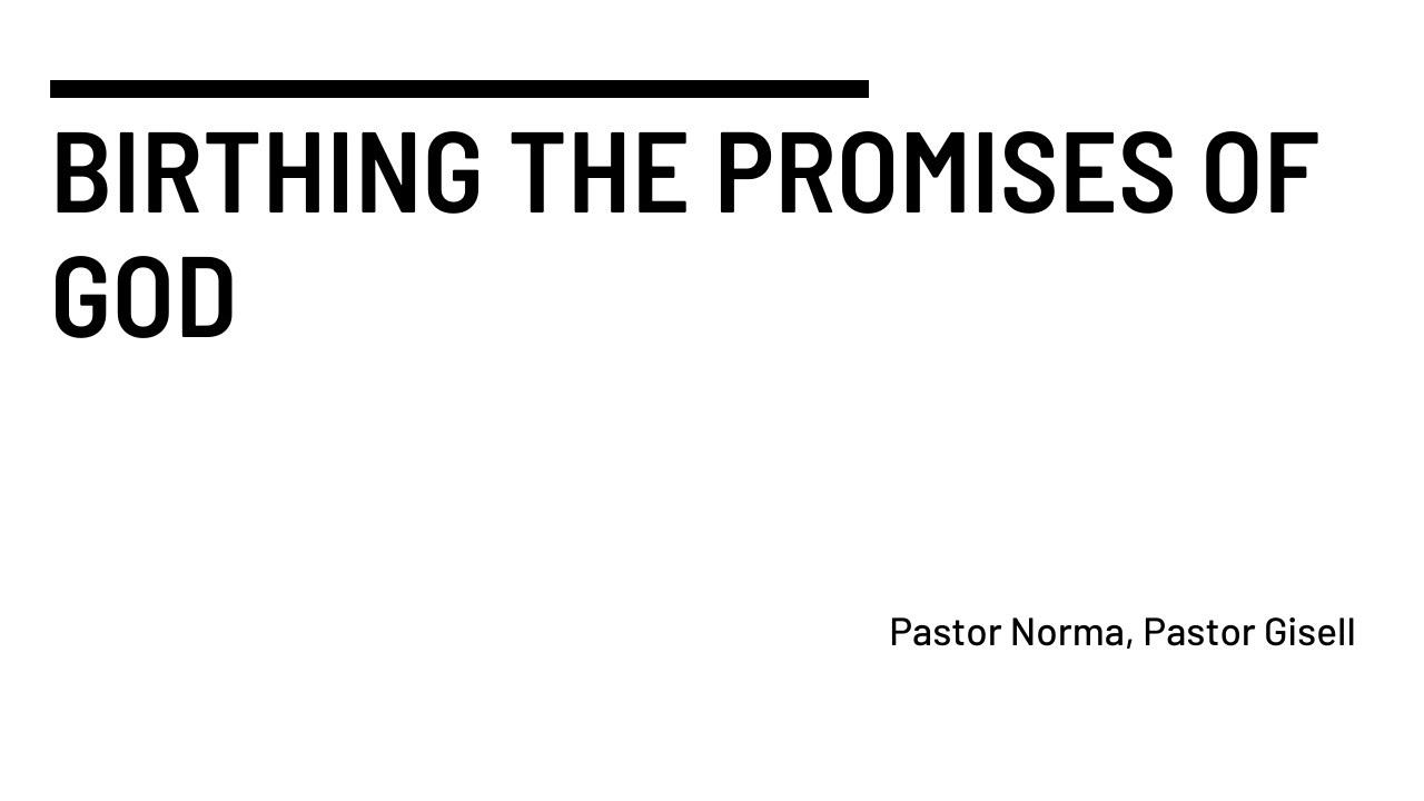 Birthing the Promises of God