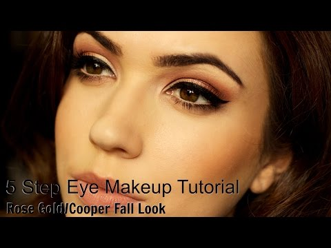 Eye Makeup Tutorial | 5 Step | Rose Copper Gold Look