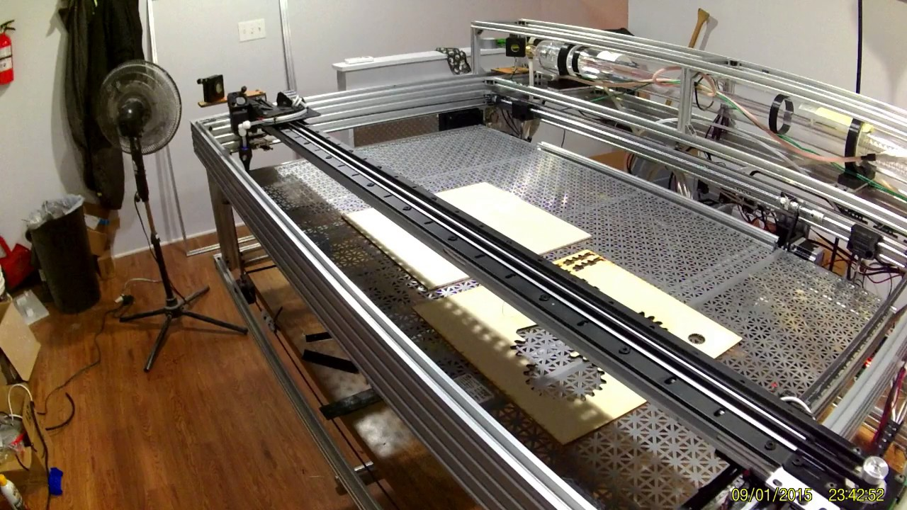 Cnc Router Table >> Openbuild Co2 Laser homing - YouTube