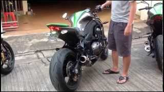 Kawasaki Z1000 Bikes New Compilation @Burnout@Full System@Fly By exhaus Sound@