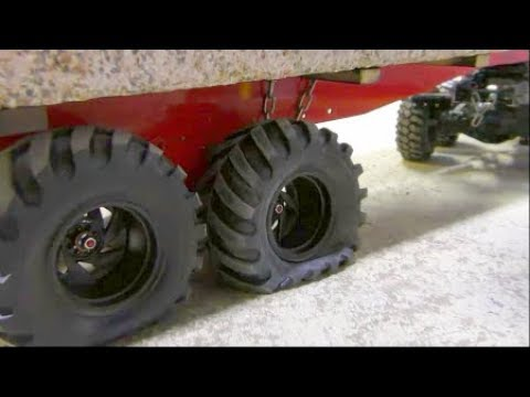 RC CRANE ACCIDENT! TO MUCH FOR THE LTM 1055 CRANE! COOL RC ACTION AND HEAVY LOAD! NEW 50t TRAILER