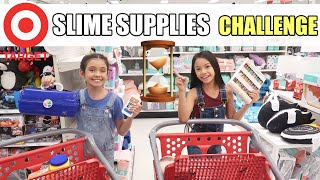 TARGET SLIME SUPPLIES 5 minute CHALLENGE W/SOPHIE MICHELLE!