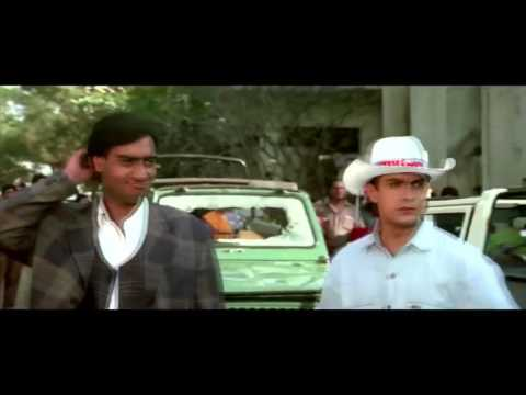 Aamir Khan Ajay Devgan Juhi Chawla Kajol Super Stars Comedy Scene Ishq Movie
