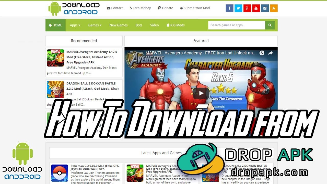 How To Download from Drop APK DownloadAndDroid