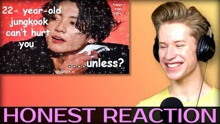 HONEST REACTION to 22-year-old jungkook can't hurt you