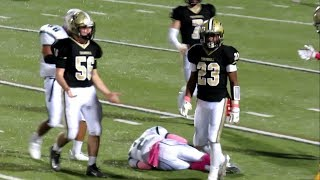 HUGE HIT - Ejection - Trumbull Football Player Ejected vs Norwalk - October 13, 2017