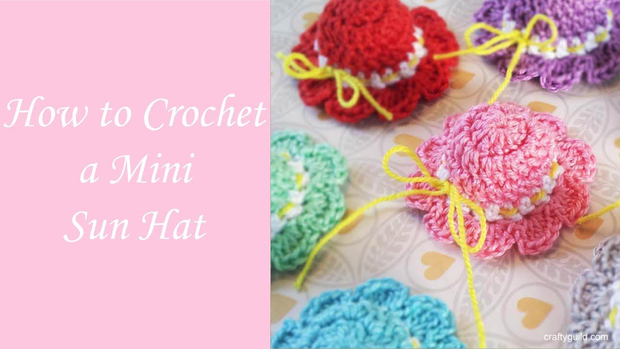How to crochet a mini sun hat free crochet pattern youtube dt1010fo