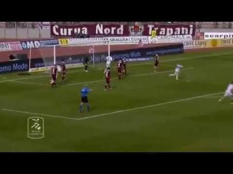 Trapani-Bari 3-4 Highlights con radiocronaca Michele Salomone (Radio Puglia)   29/03/14