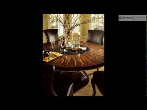 Bob Mackie Home Signature Feather Round Dining Room Collection From American Drew