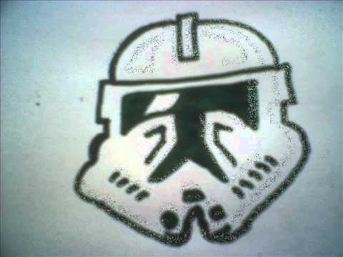 how to draw a clone helmet