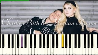 Charlie Puth ft. Meghan Trainor - Marvin Gaye [Easy Slow Piano Tutorial] How To Play 50% Speed