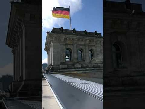 Tour of the roof terrace and glass dome of Reichstag building in Berlin, Germany – Part 1