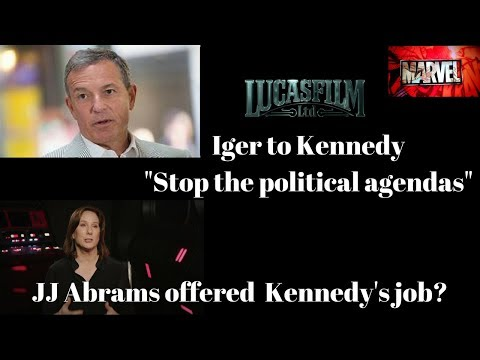 """Bob Iger to Kathleen Kennedy """"Stop The Political Agendas"""" - Dave Filoni to replace Kathleen Kennedy?"""